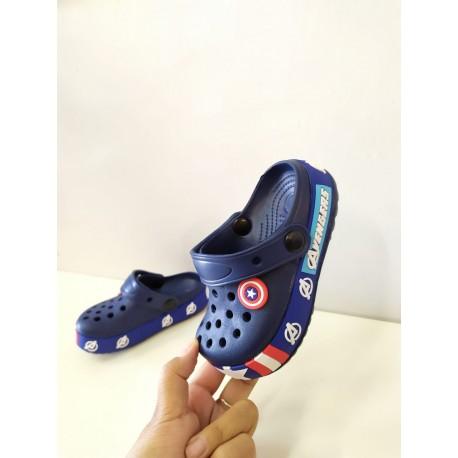 Navy Captain America Rubber Shoes