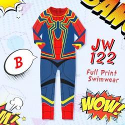 JW Blue Spiderman Long Swimsuit