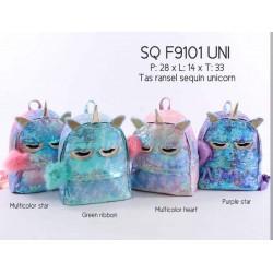 Sleepy Owl Sparkle Flip Sequin Backpack