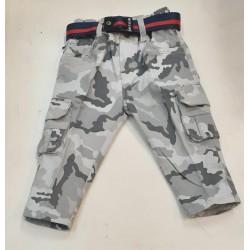 Grey Army Cargo Pants+ Belt