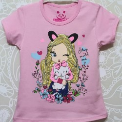Pink Stay With Me Tee