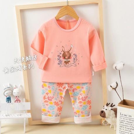 Peach Brown Bunny Pyjamas