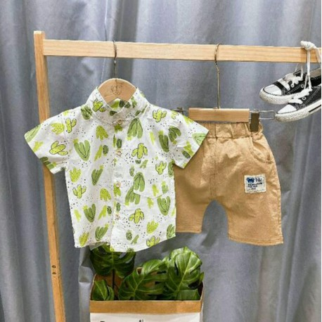 Green Cactus Leaf Boy Set