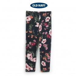 OldNavy DarkGrey Flowers Leggings