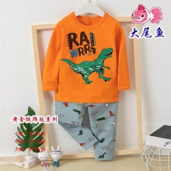 Orange Rawrr Dinosaurs Pyjamas