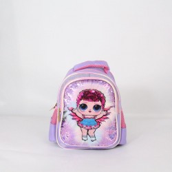 Purple LOL Surprise Fur Sequin Backpack