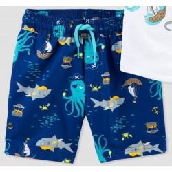 Carter's Blue Octo Pirates Swim Trunk