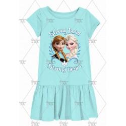 Blue Anna Elsa Frozen Dress