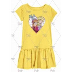Yellow Anna Elsa Frozen Dress