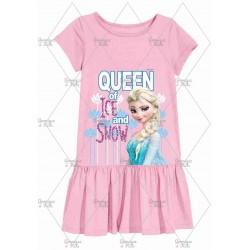 Pink Queen Elsa Frozen Dress