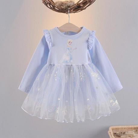 Blue Elsa Sparkle Tutu Dress