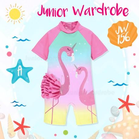 JW Flamingo Ruffle Swimsuit