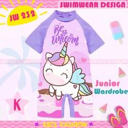JW Purple Unicorn Swimsuit