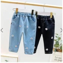 Black Flowers Jeans