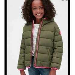 Gap Olive Puffer Jackets