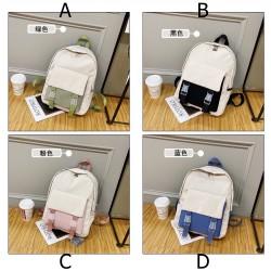 Front Pocket Pastel Colours Backpack