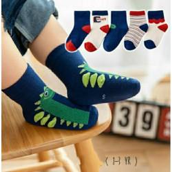 Dinosaurs Navy Red Socks