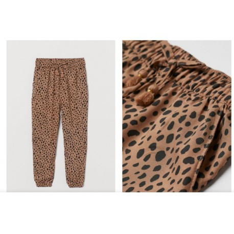 H&M Brown Woven Joggers