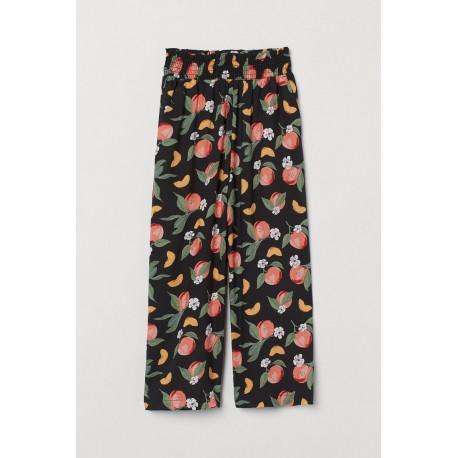 H&M Black Peach Wide Pants