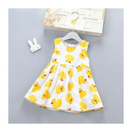 White Yellow Duck Dress