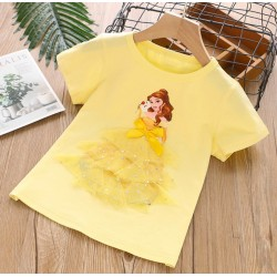 Yellow Belle 3D Tulle Top