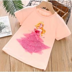 Peach Aurora 3D Tulle Top