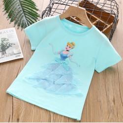 Blue Cinderella 3D Tulle Top