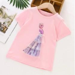 Pink Elsa Frozen 3D Tulle Top
