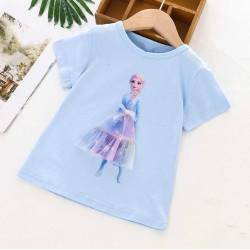 Blue Elsa Frozen 3D Tulle Top