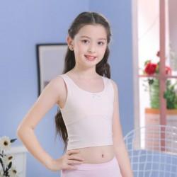 Cream Girls UnderShirt Short Tank