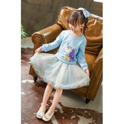 Blue Unicorn Set Tulle Skirt
