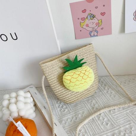 Pineapple Rattan Sling Bag