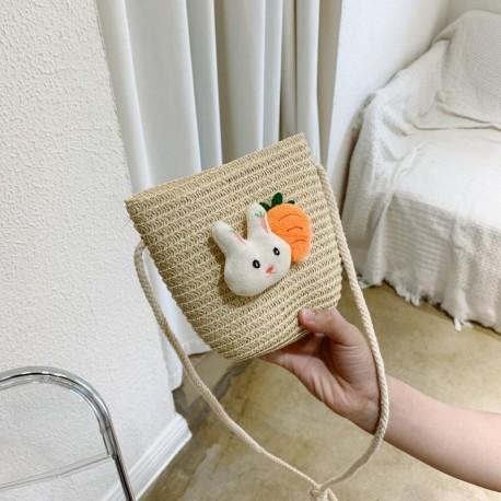 Bunny Rattan Sling Bag