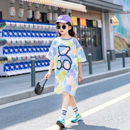 Pastel Paint Teddy Bear Dress