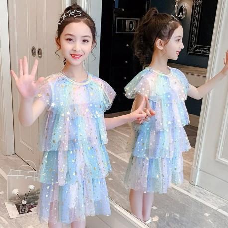 Rainbow Star Layered Dress