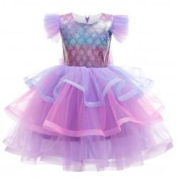 Disney Purple Ariel Mermaid Layered Tutu Dress