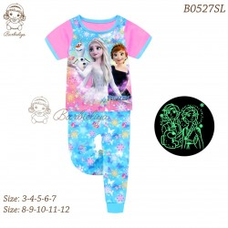 Barbieliya Pink Blue Elsa Anna Frozen 2 Glow in the Dark Pyjamas