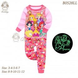 Barbieliya Pink Princesses Glow in the Dark Pyjamas