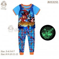 Barbieliya Blue Avengers Glow in the Dark Pyjamas