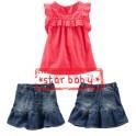 StarBaby Pink Ruffle Skirt Set
