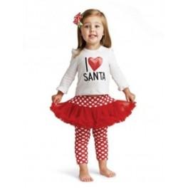 NyanCat I Love Santa Red Tutu Pant Set