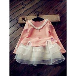 KoreaPink PeachWhite Set(top+skirt+necklace)