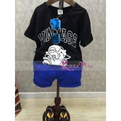 KoreaPink Boy BlackBlue Dog Set