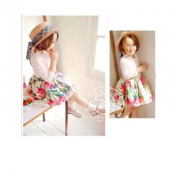 EButy White Flowers LS Dress