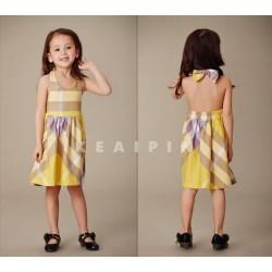 Burberry Yellow Halter Neck Dress