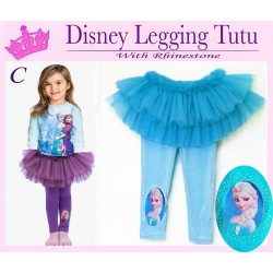 DISNEY Elsa Tutu Legging+Rhinestone