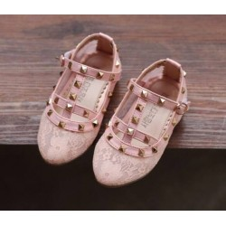 Valentino Pink Lace Shoes
