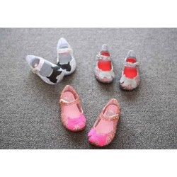 White Dog Jelly Shoes