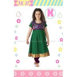 FloKids Green Dress Legging Set