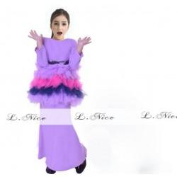 L Nice Purple Top Tutu Skirt+Scarf